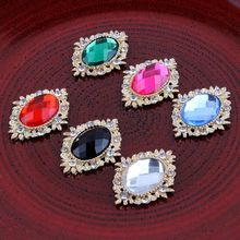 10PCS 18 colors Decorative buttons Metal Rhinestone buttons for craft Flatback Crystal buttons Horse eye gold buttons mix