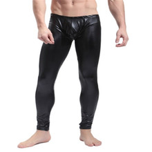 New Men's Long Pants Tight Fashion,Sexy &Novelty Skinny Muscle Tights Mens Leggings,Low Waist,Colors(Red/Black)