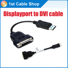 Aliexpress' best quality Displayport to DVI cable converter Displayport male to DVI 24+1 female for HP,for Dell laptop computer