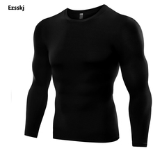 Men Boys Sports Pro Underwear Compression BaseLayer Tops Long Sleeve Stretch Elasticity Breathable Shirts GYM Tights T Shirts