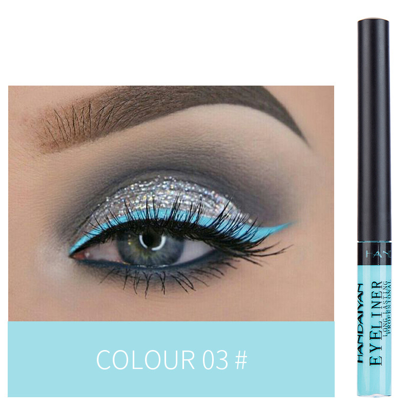 12 Color Eyeliner Liquid Waterproof Easy To Wear Make Up Matte Eye Liner Blue Red Green White Gold Brown Eyliner 5