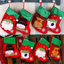 2016 Xmas Snowman Hanging Candy Socks Christmas Tree Decoration Stockings Ornament Wholesale