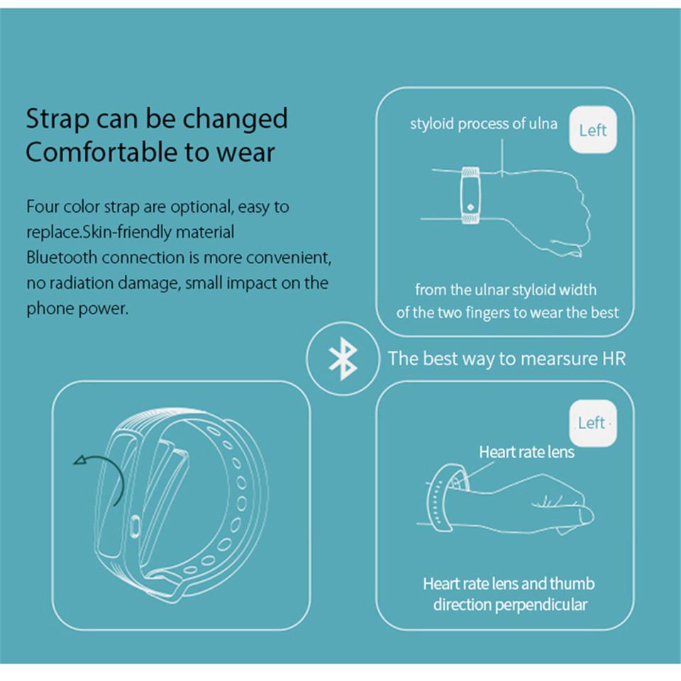 Teamyo New V05C Smart Band Pulse Heart Rate Monitor Smart Wristband Fitness Tracker Pedometer Sleep Tracker IOS Android Bracelet 17