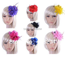 Retail lady Fascinator party cocktail dress up with hair clip mini top hat flower design 13cm diameter