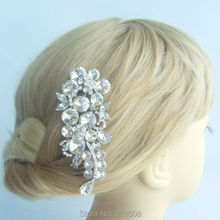 Vintage Inspired Wedding Headpiece Crystal Rhinestone Flower Bridal Hair Comb, Bridal Jewelry, Bridesmaid Gift - FSE04989C8