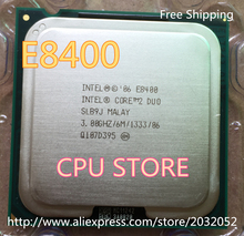 lntel cpu Core 2 Duo E8400 Processor 3.0Ghz/ 6M /1333MHz Dual-Core Socket 775 (working 100% Free Shipping) e8400(China)