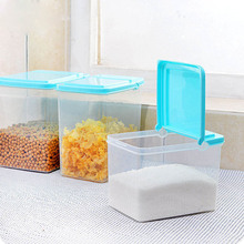 Kitchen Plastic Food Storage Containers Sealed Box Bean Grain Storage Box