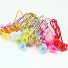 20x Kids Girls Plastic Flower Decor Elastic Hair Rope Ring Hairband Rubber Ponytail Holder Hair Accessories Headwear practical