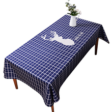 Honlaker Elk Nordic Cotton Linen Tablecloths Thickened Rectangular and Circular Decorative Table Cloth Fabric(China)