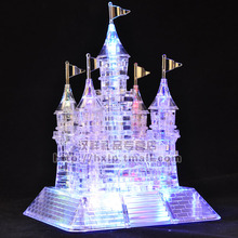 3D three-dimensional crystal puzzle / flash music Castle / 105 assembled model(China)