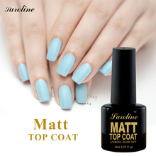 Saroline lucky 8ml Matte Top Coat Gel Polish Soak Off Cheap Gel Varnish Manicure Nail Art Lacquer Matt Polish Long Lasting