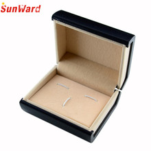 Red Black Jewelry Cufflinks Box Gift Boxes Organizer Case Cuff Link Display Carrying Cases Amazing