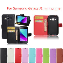 Wallet Style PU Leather Protective Back Cover For Samsung Galaxy J1 Mini Prime J106 J106H SM-J106H SM-J106 4.0inch Phone Case
