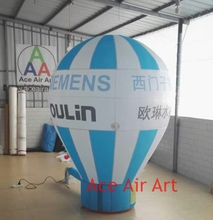 cheap and good quality inflatable replica advertising rooftop standing hot air balloon model with your logo for New Zealand