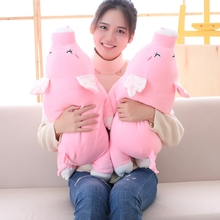 35cm Plush Toys For Children Drop Shippiing Direct deal pink pig giant plush doll pig toys for children gift High quality Dolls(China)