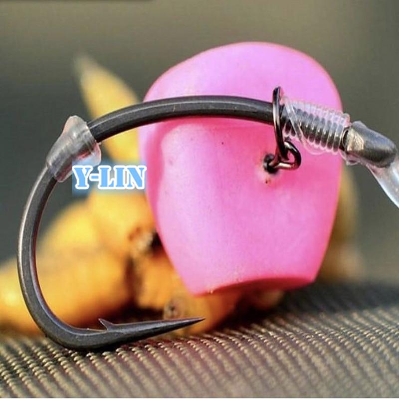 100Pcs//Set  TPR Hair Rig Fishing Boilie Stops Dumbell Bait Rig Carp Stops Nice
