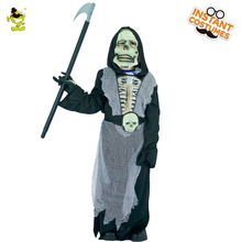 EVA Costumes Attach with 3D Skeleton Print Boys Horror Killer Disguise Outfit Kid Halloween Party Grim Zombie Role Play Clothes