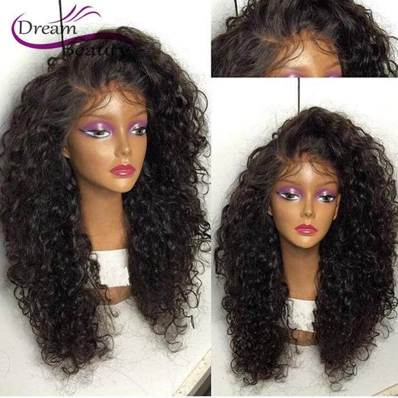 Dream Beauty virgin hair front lace wigs 180% unprocessed brazilian full lace wigs glueless wavy full lace human hair wigs<br><br>Aliexpress