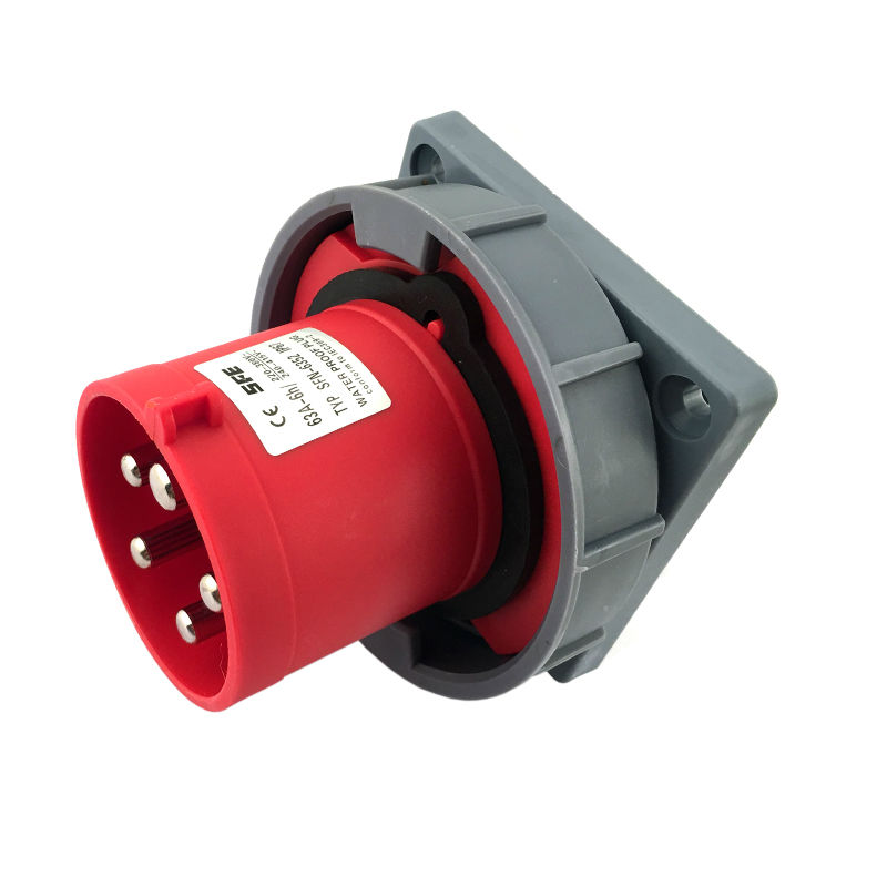 125A 5Pin Novel industrial implement hide direct socket connector SFN-6452 concealed installation 220-380V/240-415V~3P+E IP67<br>
