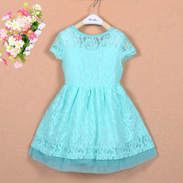Newest Princess Lace Double Layer Dress Kid Baby Girl One Piece Party Dress Costume<br><br>Aliexpress