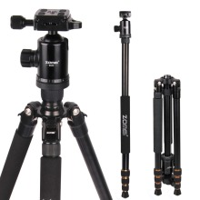 Zomei Z688 Professional Photographic Travel Compact Aluminum Heavy Duty Tripod Monopod&Ball Head for Digital DSLR Camera(China)