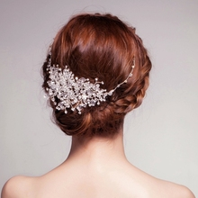 Clear Beads New Bridal Accessories Wedding Fascinator Cheap Modest Sexy Vintage Hair Wear Headpiece Wear Hot Sale