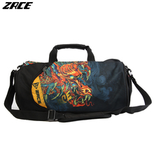 ZRCE 2017 Men For Gym Running Camping Training Waterproof Basketball Football Fitness Wolf Plus Capacity Women Sport Bag Dragon(China)