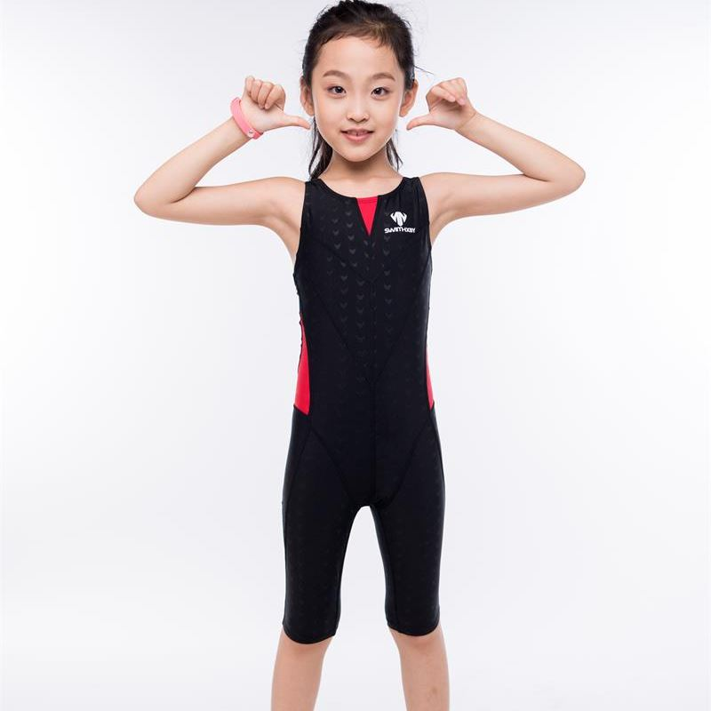 Shark Skin One piece Swimsuit Plus Size Swimwear Child 2017 Swim Competition Girl Bathing Suit Bodysuit Surfing Suits Wetsuit <br>
