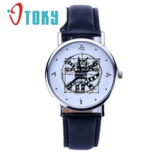 Watch OTOKY Willby Sketch Cat Cartoon Watch Faux Leather Quartz Wrist Watches 161219 Drop Shipping