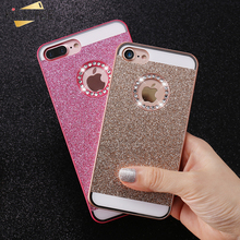 KISSCASE Luxury Bling Case For iPhone 5 5S SE 4 4S 6 6s Plus 7 7 Plus Case Shiny Powder Rhinestone Cover Coque Women Phone Capa
