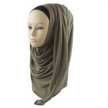 2016 New Light Weight Modal Jersey Polyester Scarf Shawls Cotton Solid Women Hijabs Plain jersey abaya,Colors Selection, PH005,(China)