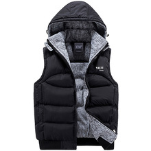 Jacket Men Sleeveless Veste homme Mens Winter Fashion Casual Coats Male Hooded Cotton-Padded Men's Vest Thickening Waistcoat