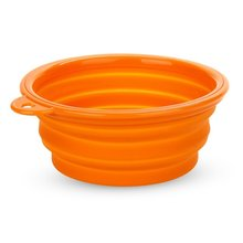 Boutique  Pet Dog Cat Silicone Bowl Expandable Collapsible Travel Water Food