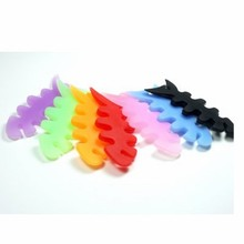 Fashion Silicone Fish Bone Earphone Cable Cord Winder Wrap Organizer for Iphone 7 ipod Mp3 Mp4 Player Fishbone Headphone Holder