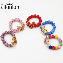 A hot and lovely children gifts exclusive Hello Kitty mickey crystal beads bracelet gift manufacturers selling fashion jewelry(China)