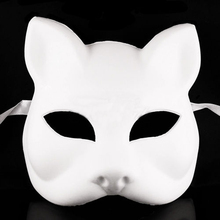 2017 New Blank Masquerade Mask - Venetian Cosplay Costume Party DIY Unpainted Mask(China)