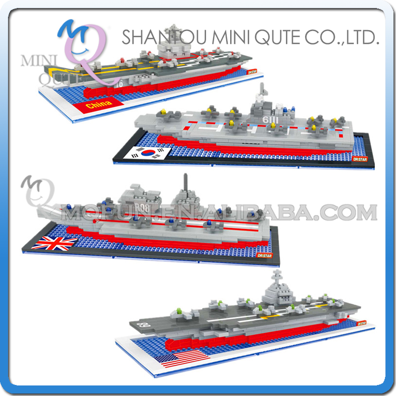Mini Qute DR.STAR 4 styles military army aircraft carrier ship Vehicle plastic building block model education educational toy<br><br>Aliexpress