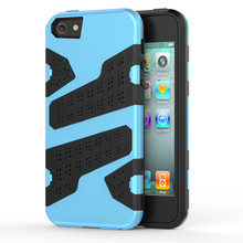 for Apple iPhone 5 5S SE Case [Mesh Dot] TPU + PC Hybrid Back Armor Cover Simple Stylish Classics Camouflage Cell Phone Case(China)