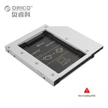ORICO Aluminum SATA 3.0 2.5 inch Hard Drive HDD SSD Caddy Case Tray for Lenovo Asus HP Dell ACER Laptop12.7mm CD DVD Drive Slot(China)
