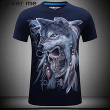 T-Shirt Men Snow Wolf 3D Printed Cotton Swag Funny T shirts Unisex palace Tshirt Homme Off White Brand Clothing camisetas hombre