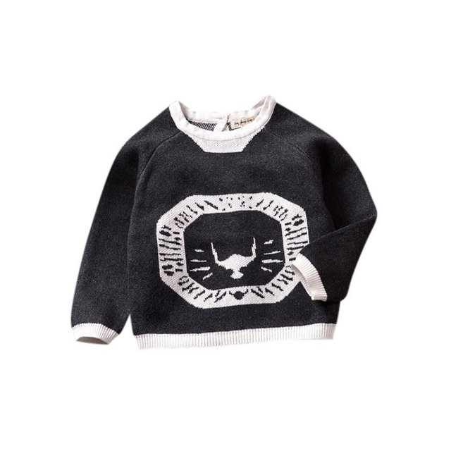 Autumn Winter Boy Baby Sweater Children Long Sleeves Cartoon Pattern Plus Size Cute Newborn