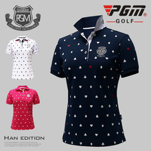 High Quality PGM New Style Wear Lady Tshirt Breathable Golf Tennis Short Sleeve Women Jerseys Outdoor Durable Polo Elastic Shirt(China)
