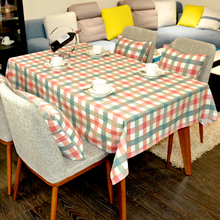 Geometry 4 color lattice Table Cloth Dining Cotton Customize Tablecloth Coffee Restaurant Home Decorative Cloth Cover