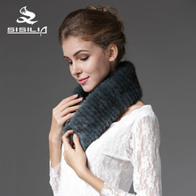 2016 New Mink Fur Scarf Mink and Suede Muffler 100% Real Natural Fur Scarf Fashion Scarf Fur