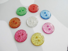 9000pcs 15mm 8 Colors 2-hole Mixed Glitter Round Buttons Beaurtiful Gifts Scrapbooking Children Cloths Garments Paper Crafts DIY