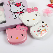 KUH K688 Flip lovely unlocked small women kids girls diamond hellokitty cute mp3 mp4 mini cell mobile phone cellphone P068(China)