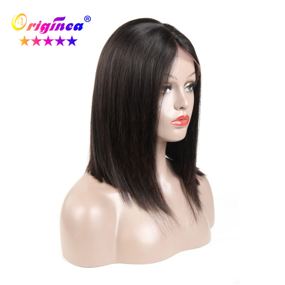 Originea Short Bob Wigs Brazilian Remy Hair Straight Lace Front Human Hair Wigs For Women 13x4 Lace Frontal Natural Black Color lace front human hair wigs wigs for black women lace front wig bob wig short human hair wigs brazilian wig human hair wig wigs for women bob lace front wigs human hair lace front wigs black women short wigs for black women lace wig human hair brazilian hair wigs lace frontal wig straight lace front wig short wigs human hair