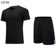 AXFAM Mens Football Uniforms Short sleeves Soccer Jerseys Sets survetement football 2017 Training Running clothes JUN66010
