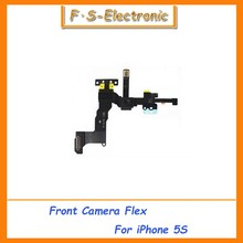 10pcs/lot Free Shipping High Quality Fix For iphone 5S OEM Proximity Light Sensor Flex Cable w/Front Face Camera New