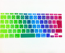 "Colorful Rainow Japan JP Soft Silicone Keyboard Cover Skin Protector film membrane for Apple MacBook Air 11"" 11.6 Inch"
